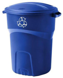 Recycling can, large