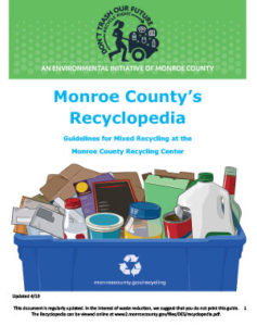 Poster for Monroe County's Recyclopedia